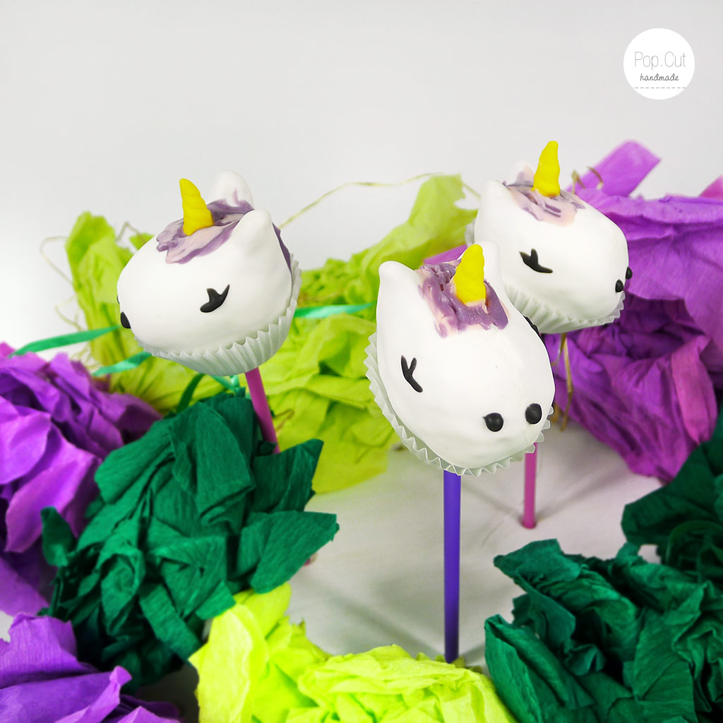 Cake Pops Einhorn Ensemble